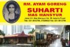 RM Ayam Goreng Suharti Cabang Mas Mansyur