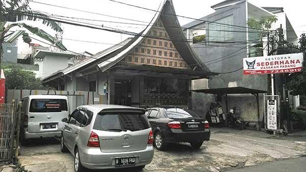 Restoran Sederhana Masakan Padang Prapanca Samping Walikota JakSel