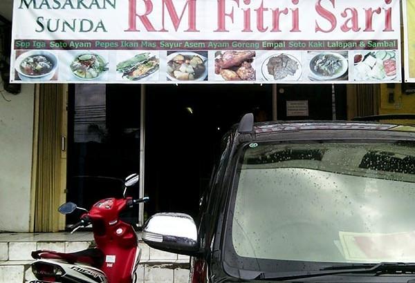 Masakan Sunda RM Fitri Sari
