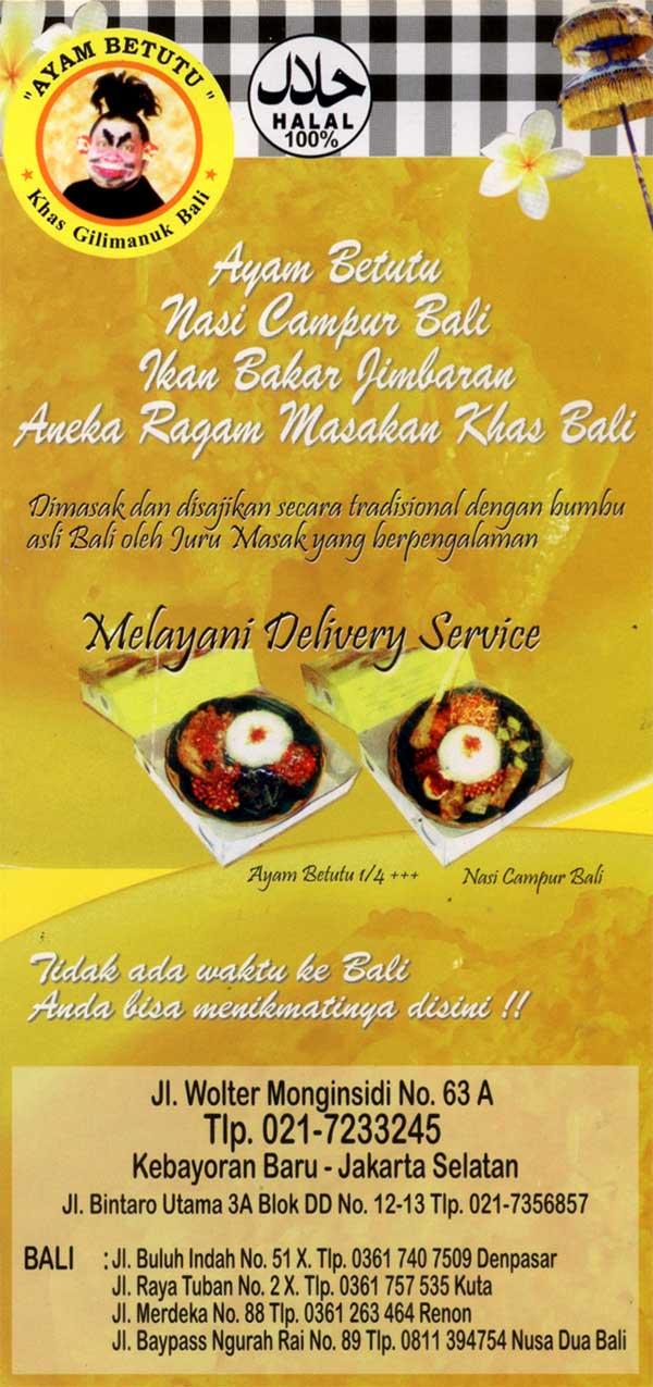 Rm Ayam Betutu Khas Gilimanuk Bali Info Kuliner