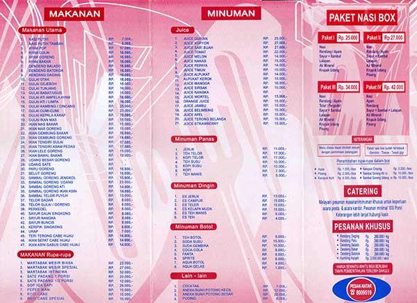 Restoran Sederhana Masakan Padang Taman Mini Info Kuliner